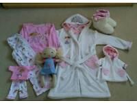 Girls nightwear set age 8 with rag doll and matching nightwear