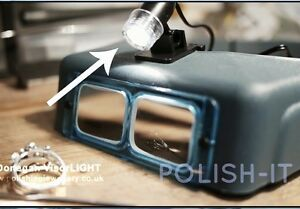 DONEGAN OPTIVISOR VISORLIGHT  -  Clip on Light - Powerful 6000 candle power