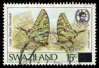 "SWAZILAND 575A (SG580a) - Large-striped Swallowtail ""Graphium antheus"" (pa15231)"