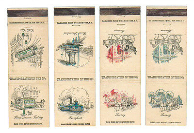 TRANSPORTATION IN THE '90 4 MATCHBOX LABEL ANNI '50