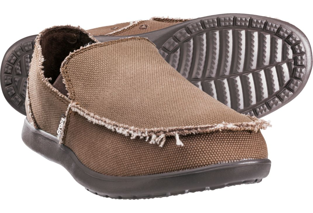 Crocs Men's Santa Cruz Loafers Espresso Brown Size 10 Relaxed Fit