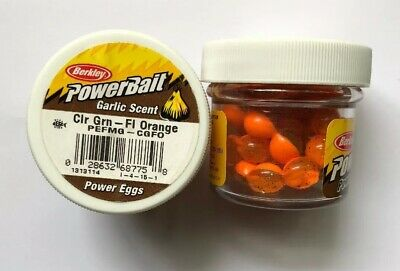 2 Oz Jars Wholesale (2 JARS Berkley Garlic Magnum Floating Power Eggs 0.5 Oz CLEAR GREEN - FL)