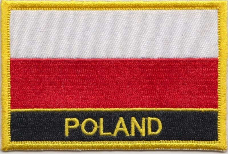 Poland Flag Embroidered Patch - Sew or Iron on