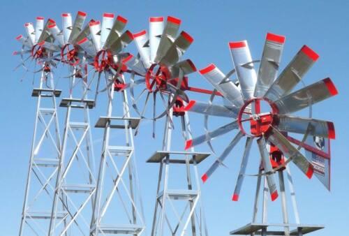 Windmill Farm Pond Aerator ( 5 Sizes ) Amish Wind Mill Aeration System FREE SHIP