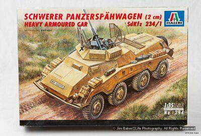 Italeri 294 1/35 Sd.Kfz 234/1 Schwerer Panzerspähwagen 2cm Heavy Armored Car