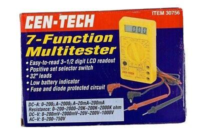 Cen-tech 7-function Multitester Multimeter