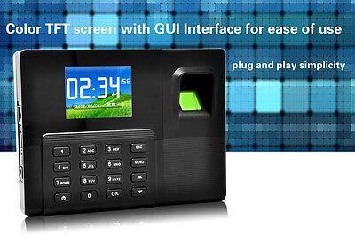 2.8tft Backup Battery Fingerprint Recording Rfid Time Attendance With Tcpip A9