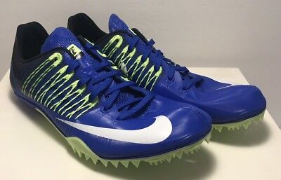 3441ac56a044 Nike Mens Size 11 Zoom Celar 5 Track   Field Sprint Shoes Blue Green  629226-413