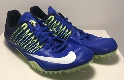 746da9a032de Nike Mens Size 11 Zoom Celar 5 Track & Field Sprint Shoes Blue Green  629226-413