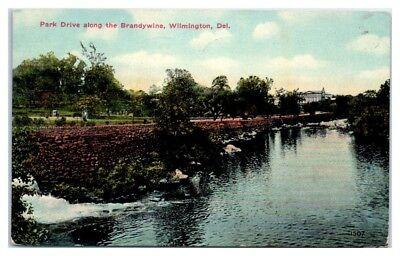 1913 Park Drive along the Brandywine, Wilmington, DE Postcard