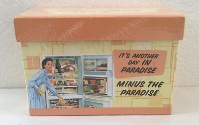 Recipe Card Box Vintage Design Its Another Day in Paradise Minus the Paradise
