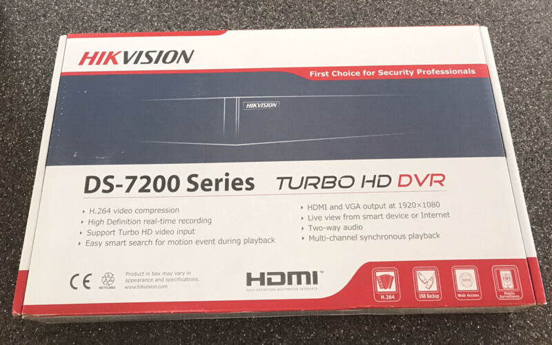 HikVision Turbo HD DVR DS-7200 Series DS-7204HUHI-F1/N Security Tribrid NEW