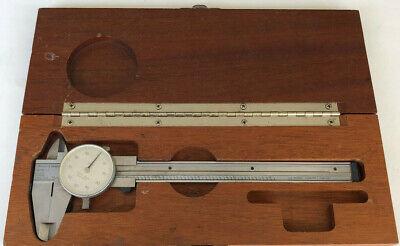 Brown And Sharpe 579-1 Dial Caliper W Wood Case Swiss Made