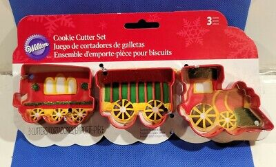 3 Piece Train Metal Cookie Cutter Set Christmas cookies