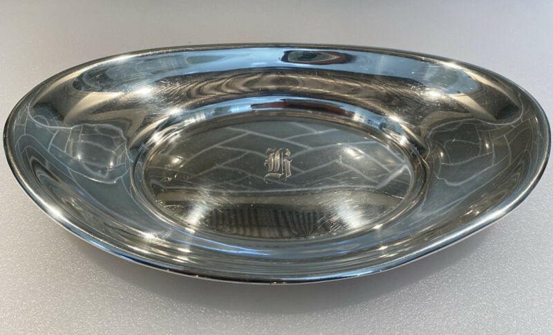 Antique Whiting Mfg. Co. Sterling Silver Bread Platter c. 1923 with Monogram