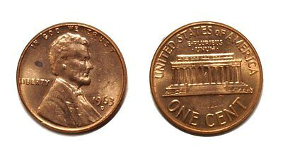 1963 D LINCOLN CENT   DOUBLE DIE  1DO 022 UNCIRCULATED BU RED 224