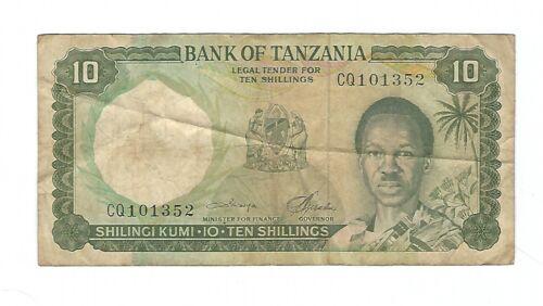 Tanzania - Ten (10) Shillings  1966
