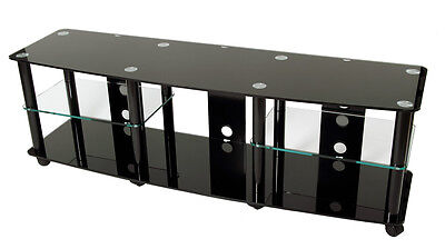TransDeco TV Stand / TV Cart w/casters for 40 - 70 inch Flat Panel TV TD208B NEW
