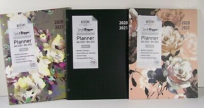 2020 2021 See It Bigger Monthly Planner Holidays Contacts Passwords Free Ship