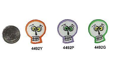 Halloween Skull Embroidery Iron On Applique - Halloween Embroidery Appliques