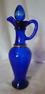 Avon cobalt Genie Glass Decanter