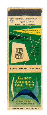 BANCO AMERICA DEL SUR MATCHBOX LABEL ANNI '50