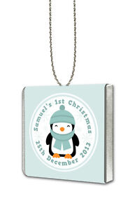 10-Personalised-Cute-Penguin-Chocolate-Hanging-1st-Christmas-Tree-Decorations