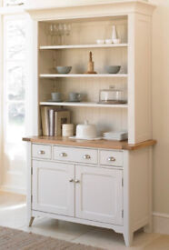 Mark Webster Padstow Solid Oak, Off White Painted Sideboard And Dresser Top