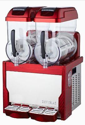 Red Commercial 2 Tank Frozen Drink Slush Slushy Making Machine Smoothie Maker T