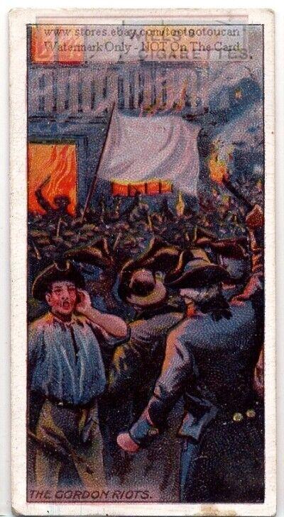 1780  Anti-Catholic Gordon Riots London England 100+ Y/O Ad Trade Card