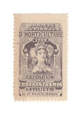 Poster Stamp, French National Society Of Horticulture Exposition, 1907, MNH - $3.99