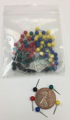 200 Push Pin Map Tacks 5 Colors 40 Each Red Green Blue Yellow Black