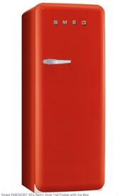 Smeg retro fridge with ice box in excellent condition in RED