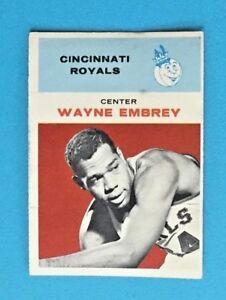 1961-62 Fleer Set Break # 12 Wayne Embrey VG-VGEX
