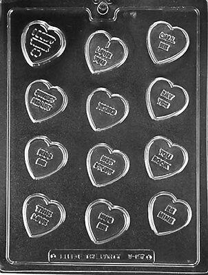 Conversation Valentine Hearts Chocolate Mold   V157