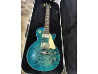Gibson Les Paul Standard Premium Quilt 2015 in Ocean Water Candy.