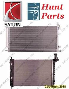 All Saturn AC compressor Condenser Radiator Support Fan Cooling Compresseur AC Condenseur Radiateur Support Ventilateur