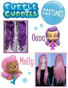 NEW: 80cm Long Wigs for BUBBLE GUPPIES Costume (Molly&Oona)