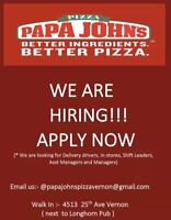 Supervisor, Delivery Drivers, Full-time/part-time In-store