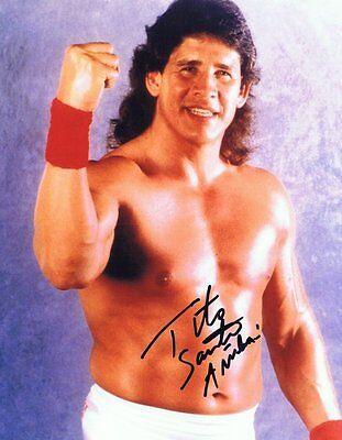 Tito Santana Signed Autographed 8x10 Photo - w/COA WWF WWE Wrestling