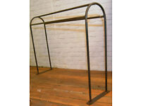 1960s Saddle horse metal rack rail storage industrial antique kitchen retro vintage towel