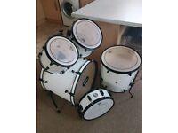 Mapex Voyager Drum Kit White/Black