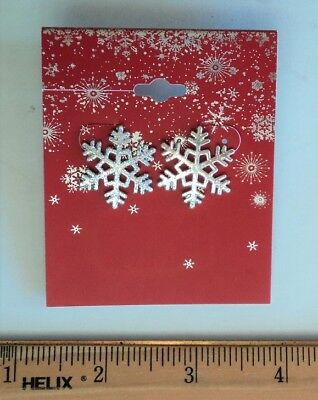 Christmas Holiday Winter Sparkly Silver Snowflake 1