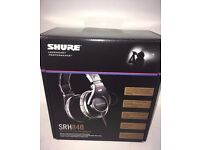NEW Shure Headphones (SRH840) Professional studio monitor closed-back flat frequency response