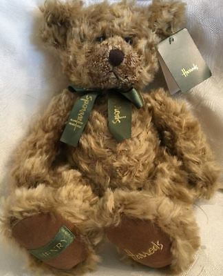 NWT Collectible Harrods Knightsbridge Vintage Henry Teddy Bear Plush Green Bow