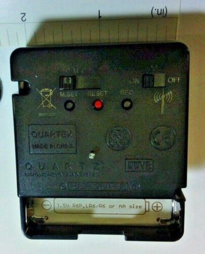 Radio Controlled Atomic Quartz Clock movement: choice of hands:self setting! NEW