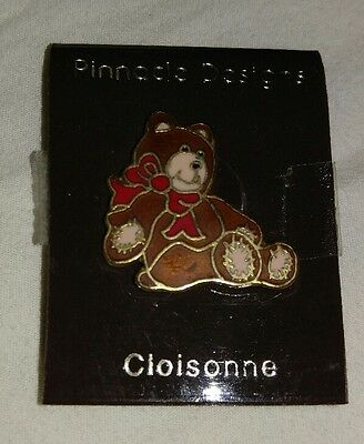 New �� Vintage Cloisonne Bear Pin Pinnacle Designs Enamel