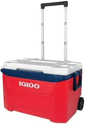 Igloo Rolling Ice Chest Cooler Texas Edition, 60 Quart