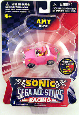 Sonic & Sega All-Star Racing 1.5 Inch Mini Vehicle Amy Figure *NEW*