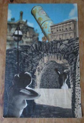 Collage von Michael Schirrmacher 1970er Endzeit-Kunst Kurios Erotik Fernrohr